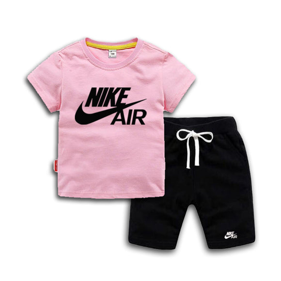 Baby Boys And Girls Designer T-shirts And Shorts Set  Pink - Dominick's Boutique