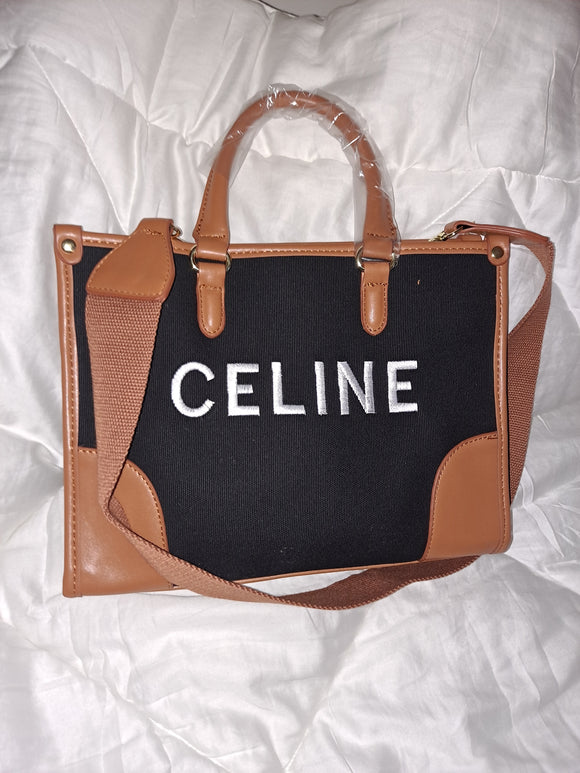Celine brown black medium bag