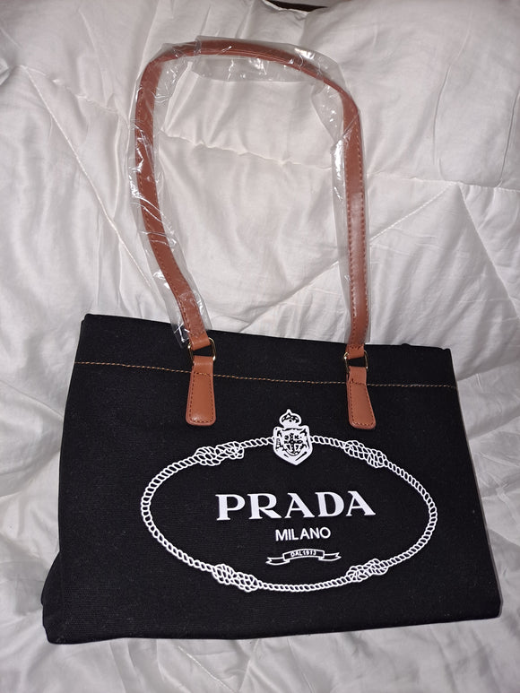 Black white Prada Medium Bag