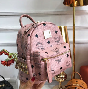 Lux handbag brand female backpack mini backpack Pink - Dominick's Boutique