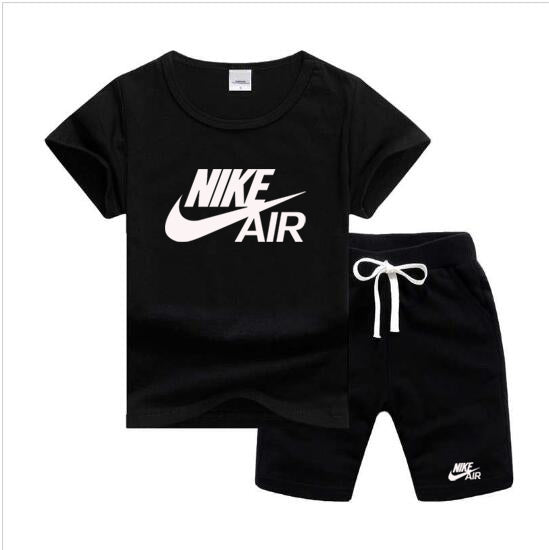 Baby Boys And Girls Designer T-shirts And Shorts Set  Black - Dominick's Boutique