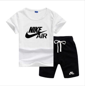 Baby Boys And Girls Designer T-shirts And Shorts Set  White - Dominick's Boutique