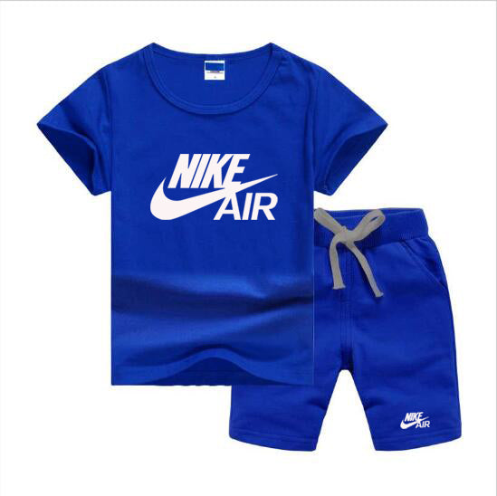 Baby Boys And Girls Designer T-shirts And Shorts Set  Blue - Dominick's Boutique