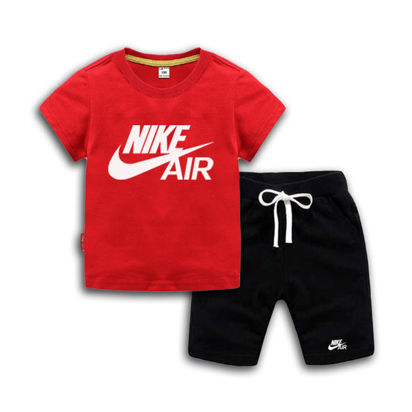 Baby Boys And Girls Designer T-shirts And Shorts Set  Red - Dominick's Boutique