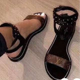 LV Lux Buckle Ravites Sandals