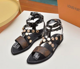 LV Lux Buckle Ravites Sandals - Dominick's Boutique