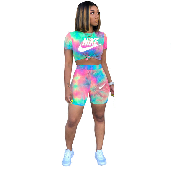 Luxury Shorts Sets Tie-Dyed  multicolor - Dominick's Boutique