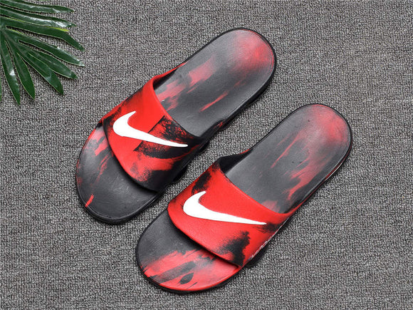 Lux Breathable Comfort Slides with air cushion Style designer  Red - Dominick's Boutique