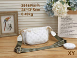 White LV Single shoulder Cross Body bag