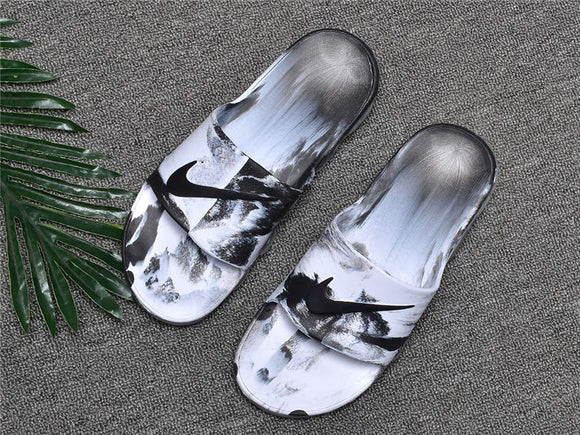 Lux Breathable Comfort Slides with air cushion Style designer  Ink - Dominick's Boutique