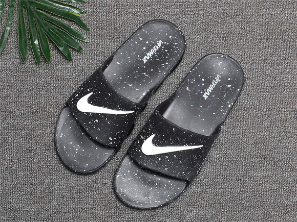 Lux Breathable Comfort Slides with air cushion Style designer  Black - Dominick's Boutique