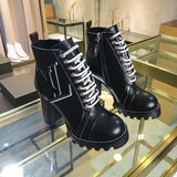LV Ankle Boot High-Heeled Heel Shoes Booties