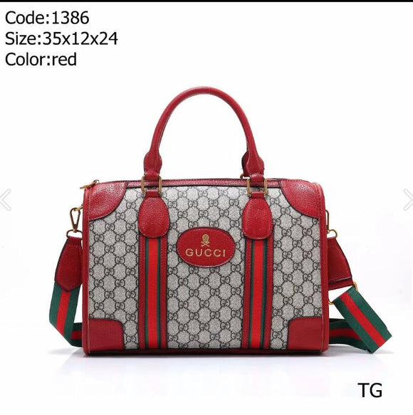 luxury handbag designers wallet luggage hand luggage bag travel bag Red - Dominick's Boutique