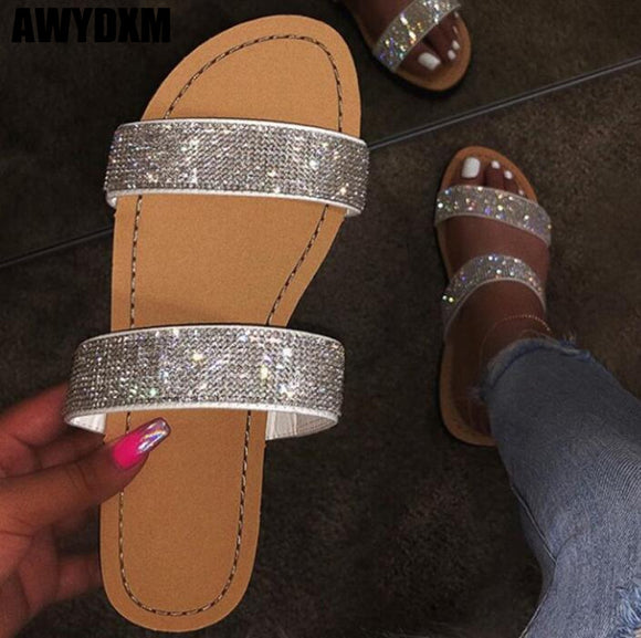 Cute crystal Flats - Dominick's Boutique