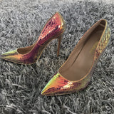Snake sexy pointed toe high heels pumps - Dominick's Boutique
