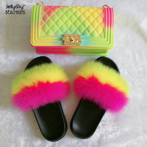 Jellyooy BEACHKINS Slippers Purse Sets - Dominick's Boutique