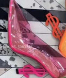 PVC Pumps Women Stiletto High Heels - Dominick's Boutique
