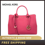 Michael Kors MK Savannah Large Leather Satchel Lux - Dominick's Boutique
