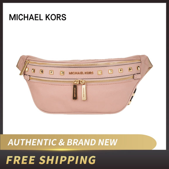 Authentic Original & Brand new Michael Kors Canvas Studded luxury Waist Bag