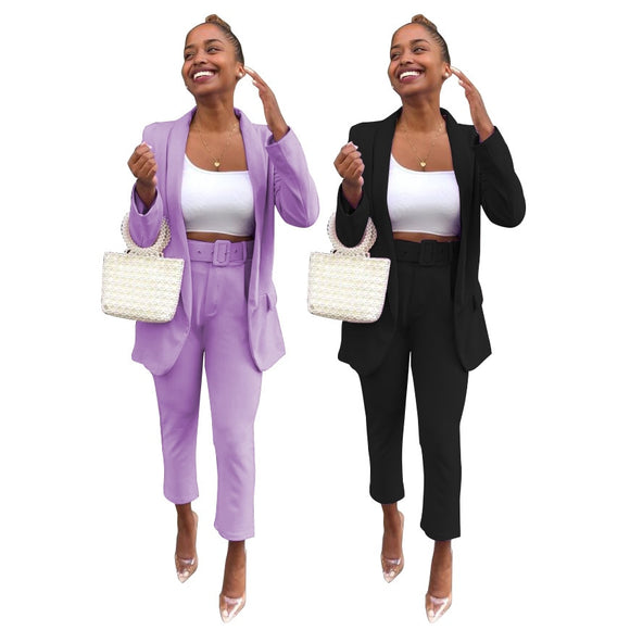 Elegant Office Ladies Work Blazer Set