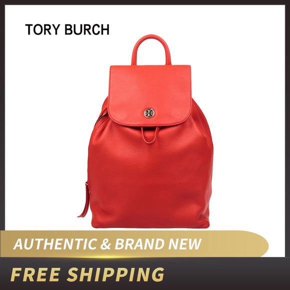 Authentic Original & Brand New Luxury Tory Burch Brody Pebbled Leather Backpack Bag