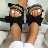 Sandals Beach  Bow Slip On Gladiator Sandals - Dominick's Boutique
