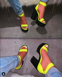Student outdoor casual wild candy color sandals - Dominick's Boutique