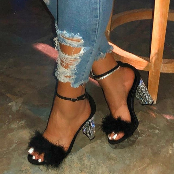 Summer high heels gladiator luxury crystal sandals - Dominick's Boutique