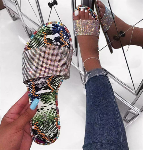 Rhinestone Slippers Beautiful Sandals