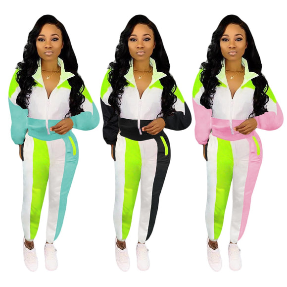 Lateisha Color Patchwork Sweatsuit