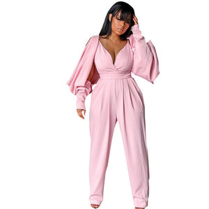 Plunging V-neck Vintage Sexy Jumpsuit - Dominick's Boutique