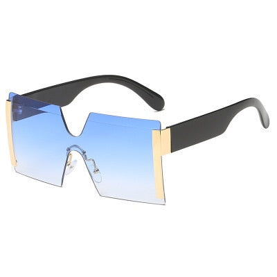 Guvivi Square Rimless Sunglasses