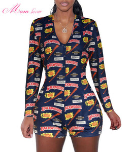 Onesie Shorts Sexy Rompers Adult Pajamas