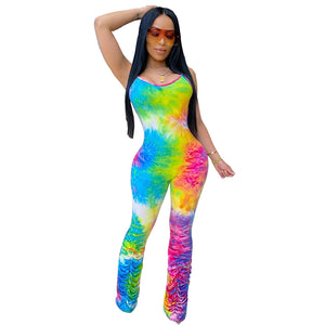 Clair Tie-dye Sexy Night Club Party Outfits