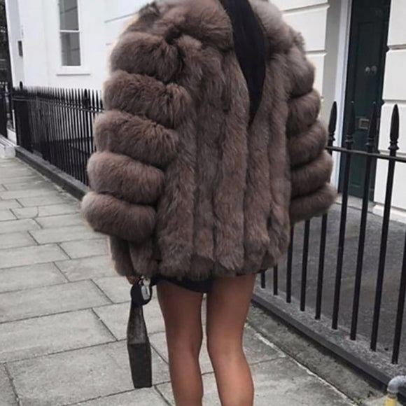 Plush Coat Luxury Soft Fur Jacket Coat