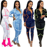 Long Sleeve Top Pants Tracksuit Casual Jogger Sportswear Suit
