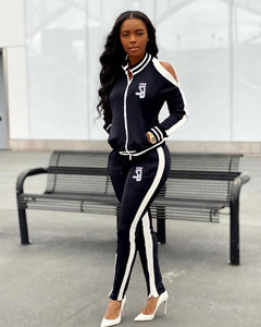 Long Sleeve Jacket Top And Pants Sweat Suits