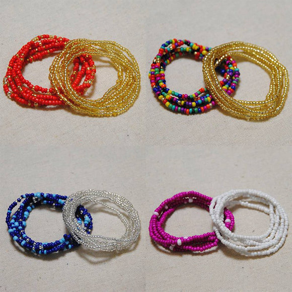 2 PC Colorful Waist Bead Chains Set