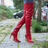 Winter Pu Leather Women Thigh High Boots