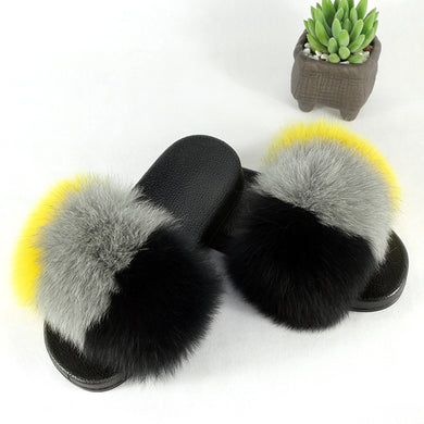Mindy Fur Slides Slip On