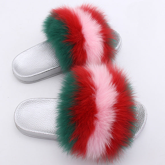 Tae Fur Slippers Flip Flops - Dominick's Boutique