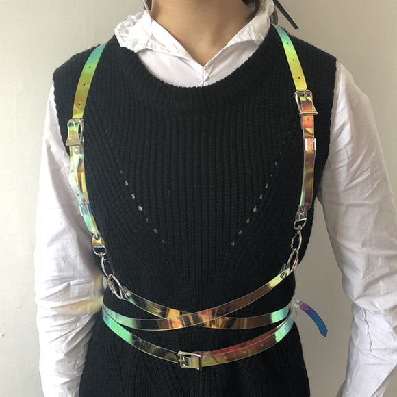 Punk Harajuku O-ring Harness Waist Belt Straps Suspenders - Dominick's Boutique