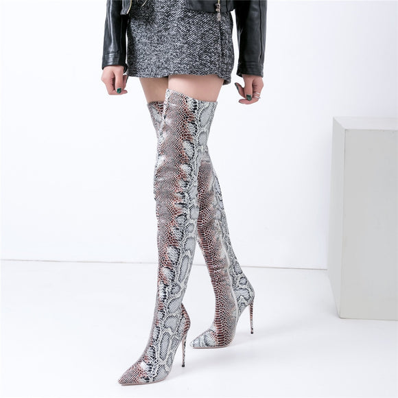 Mstacchi Snake Boots - Dominick's Boutique