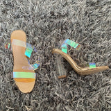 Clear Strappy High Heels - Dominick's Boutique