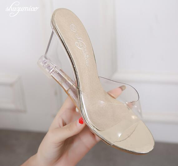 Wedges Clear Sandals