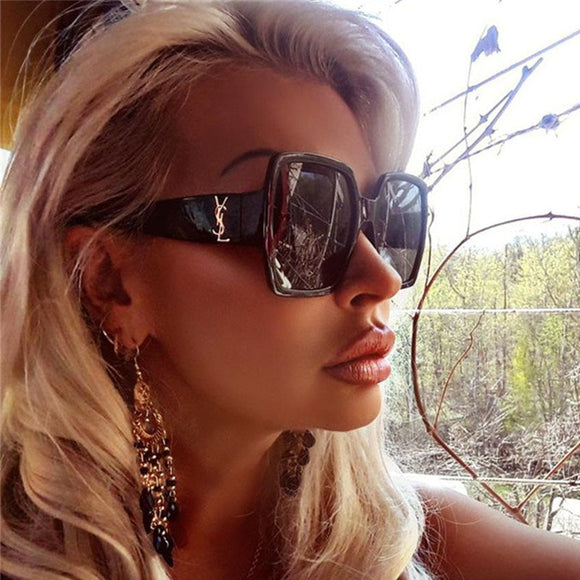 Oversized Luxury Square Sunglasses