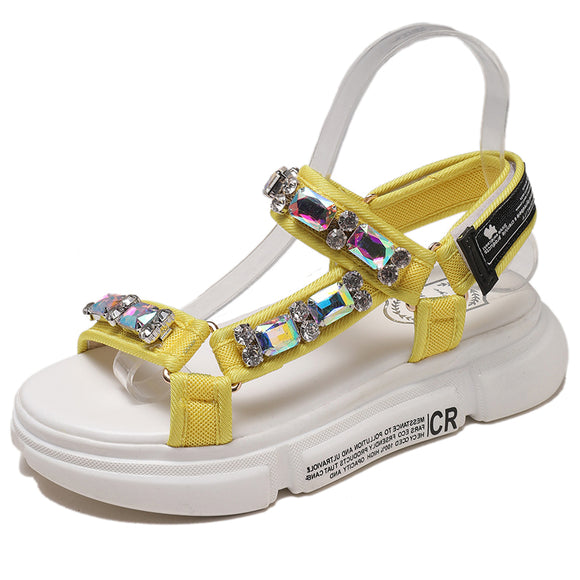 Open-toed Cool Diamond Sandals