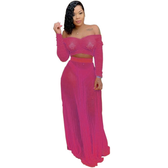 Beach Sexy Pleated Maxi Dress - Dominick's Boutique