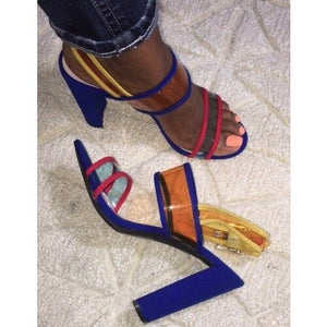 Open Toe Thick With High Heel Sandals - Dominick's Boutique