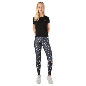 Black Birds Leggings